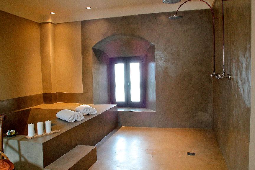 habitaciones romanticas palacio carvajal baño