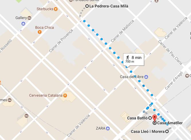 Ruta modernista Barcelona centro