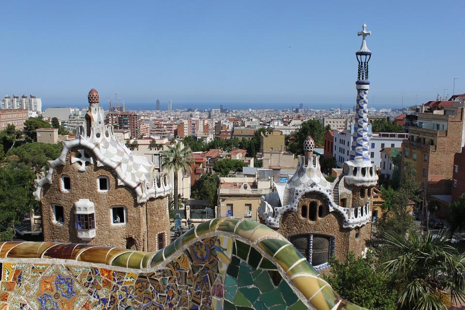 entrada parque guell ruta barcelona