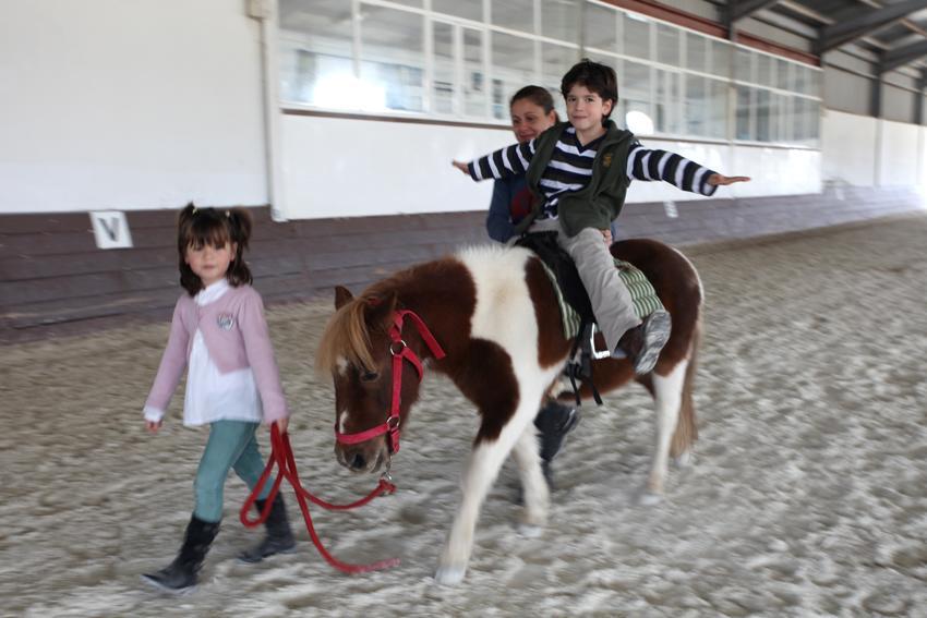 Escapada con niños cerca Madrid nazules poni