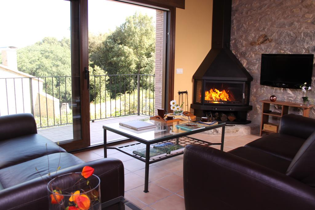 mirador casa rural con chimenea fire